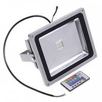 Прожектор LED 50w RGB+пульт 6500K IP65 1LED