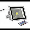 Светодиодный LED прожектор 10w RGB+пульт 6500K IP65 1LED