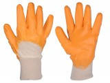 Перчатки с нитриловым неполным обливом желтые MASTER TOOL