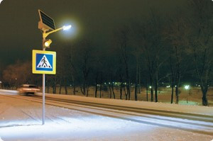 освещение пешеходного перехода фото