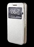 Чехол книжка для Lenovo A5000 Covers Ulike New белый с окошком