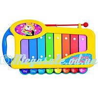 """Музыкальная игрушка ксилофон """"Маленький музыкант"""": 8 тонов, металл"""