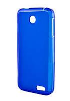 Силиконовый чехол для Lenovo A398t синий / прозрачный