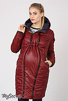 Зимняя куртка для беременных Kristin, двухсторонняя, синяя с бордовым