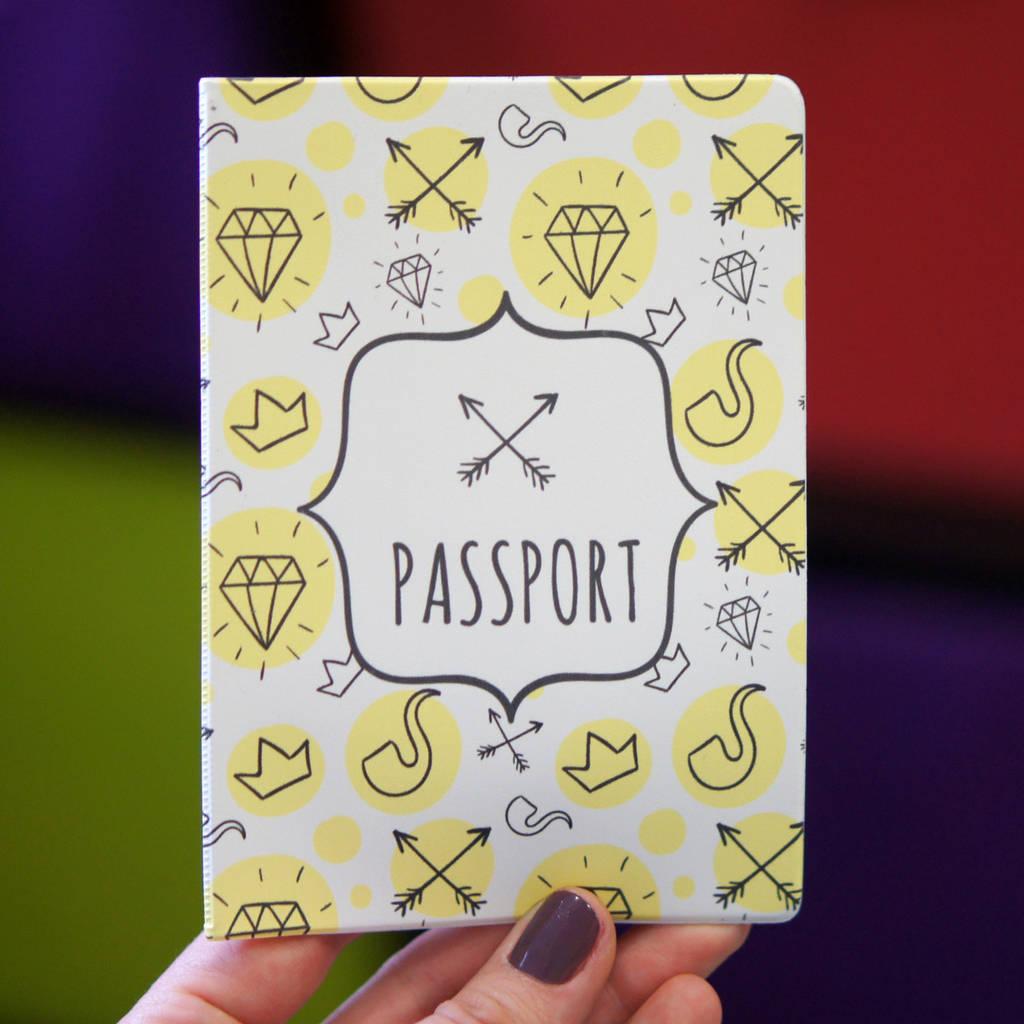 """Обложка для паспорта """"Hipster"""""""