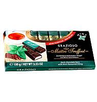 Темный шоколад Maître Truffout с мятной начинкой, 8 х 12,5 г.
