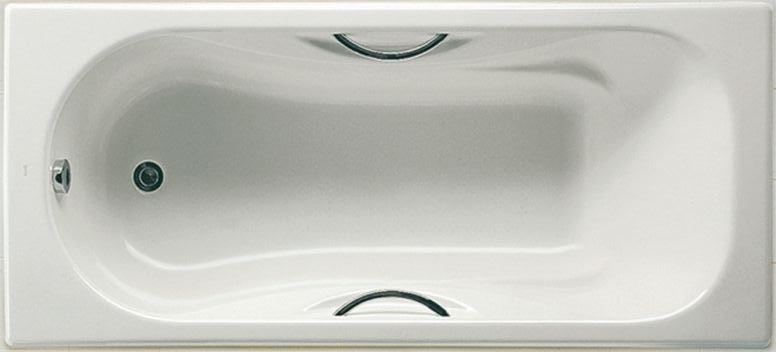 Чугунная ванна с ручками в комплекте с ножками, ROCA MALIBU 170*75 см