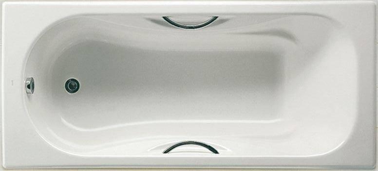 Чугунная ванна с ручками в комплекте с ножками, ROCA MALIBU 170*75 см, фото 2