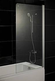 Штора на ванну 80*150, стекло прозрачное, правая EGER (599-02R)