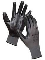 Перчатки нейлоновые с нитрильным неполным покрытием
