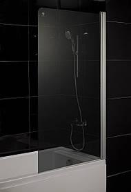 Штора на ванну 80*150, стекло тонированное, правая EGER (599-02R grey)
