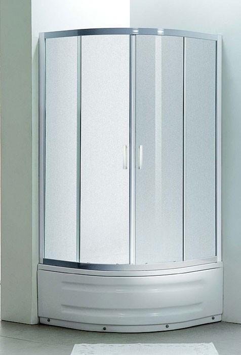 Душевая кабина на глубоком поддоне, профиль белый, стекло EGER TISZA MELY Zuzmara (599-187)