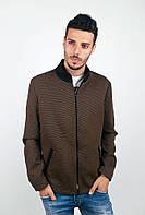 Оригинальная мужская куртка на молнии с воротником стойкой, карманами по бокам и застежкой змейкой цвета хаки, черная