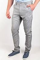 Стильные мужские брюки прилегающего кроя с высокой талией бежевые, голубые