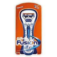 Бритвенный станок Gillette Fusion и 2 кассеты