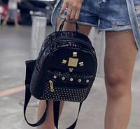 Рюкзак женский черный с шипами, фото 1