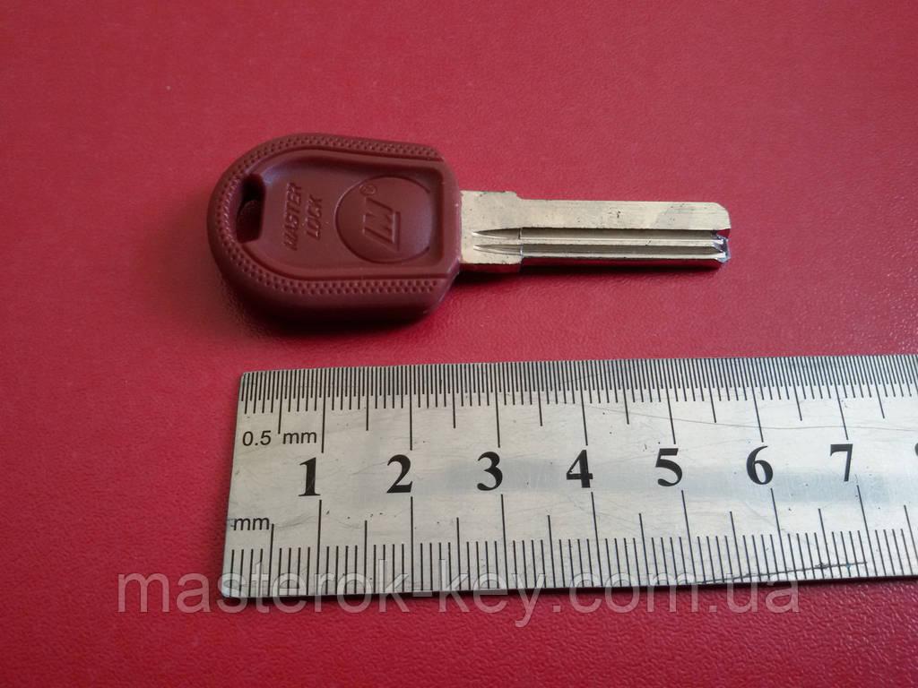 Заготовка ключа MASTER LOCK 27мм. с пластиковой ручкой