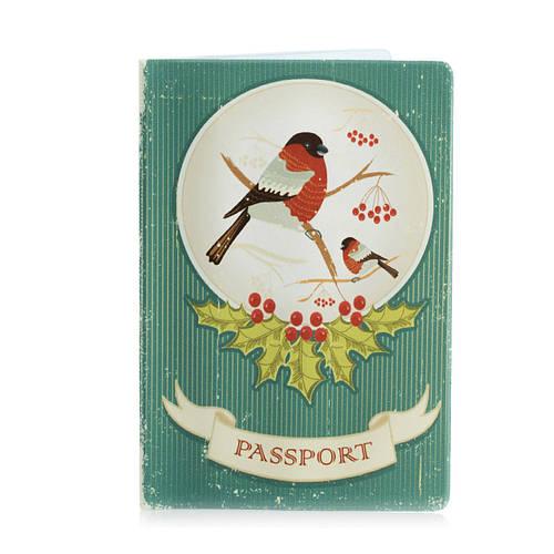 """Обложка для паспорта """"Снегирь"""""""