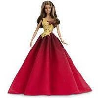 "Кукла Барби Новогодняя ""Шатенка"" / 2016 Barbie Holiday Doll"
