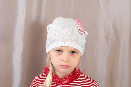 Яркая осенняя детская шапка со стразами с прищепом сзади, фото 2