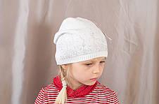 Яркая осенняя детская шапка со стразами с прищепом сзади, фото 3