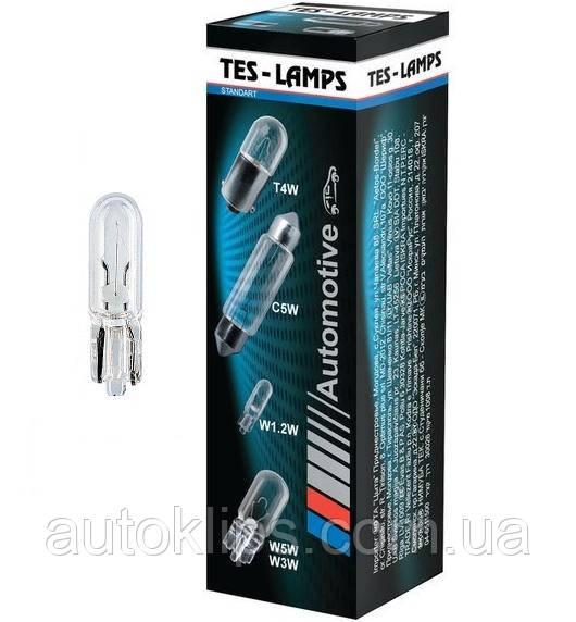 """Лампа 12V W1,2W цоколь W2x4,6D щиток приборов, выключатель """"ТЕСЛА"""""""