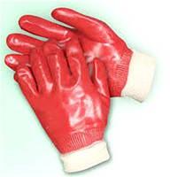Перчатки с ПВХ покрытием, вязаный манжет