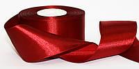 Лента атласная красная, ширина  5 см. катушка 22,7 м\ 25 ярдов Belatex, Польша, красная