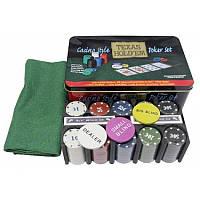 Покерный набор в металлической коробке Техасский холдем N°200T-4