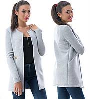 Неопреновый стильный пиджак кардиган удлиненный