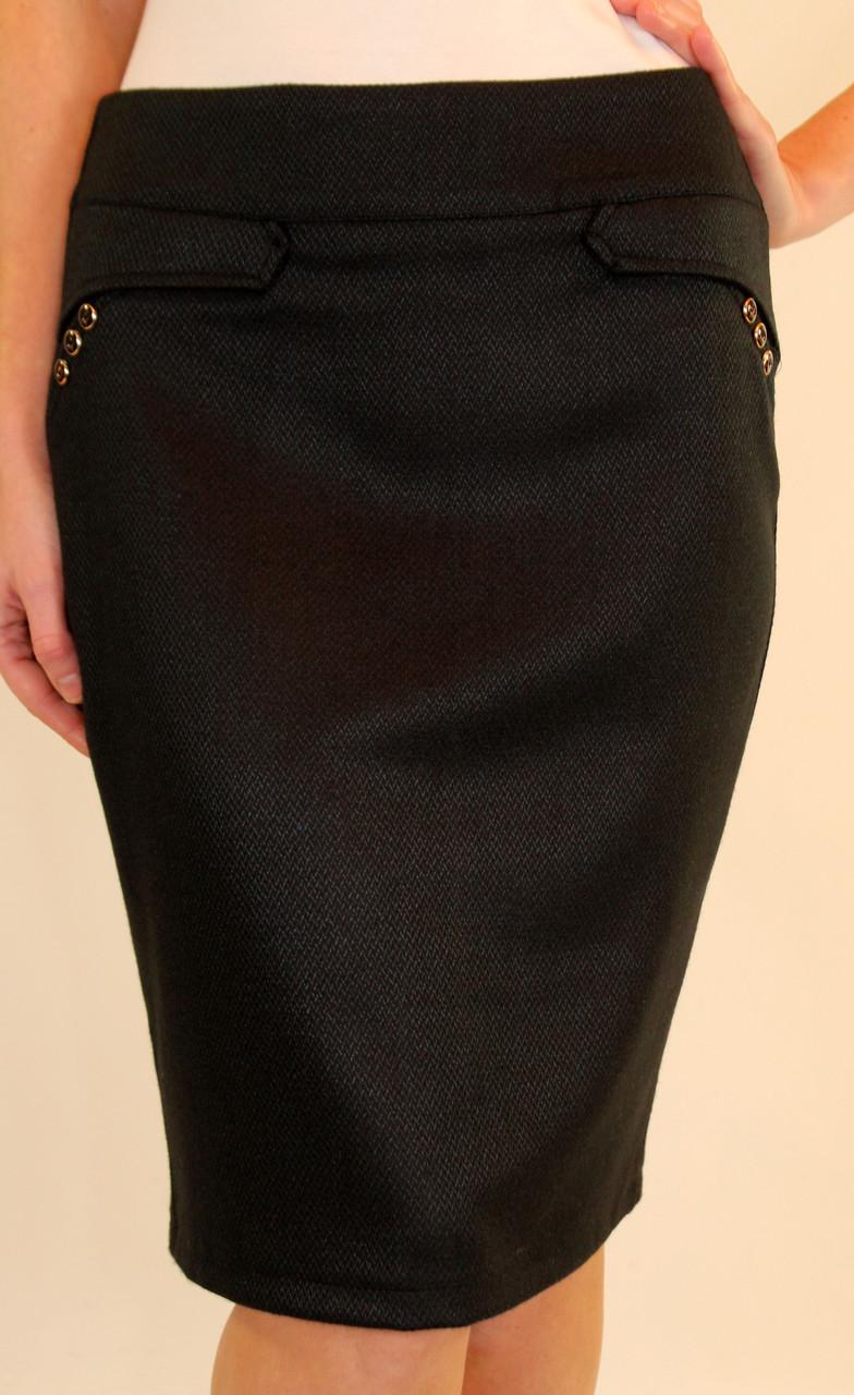 Модная юбка карандаш 44-50 р ( бордовый, зеленый, синий )