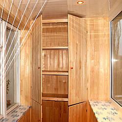 Обшивка лоджии деревянной вагонкой