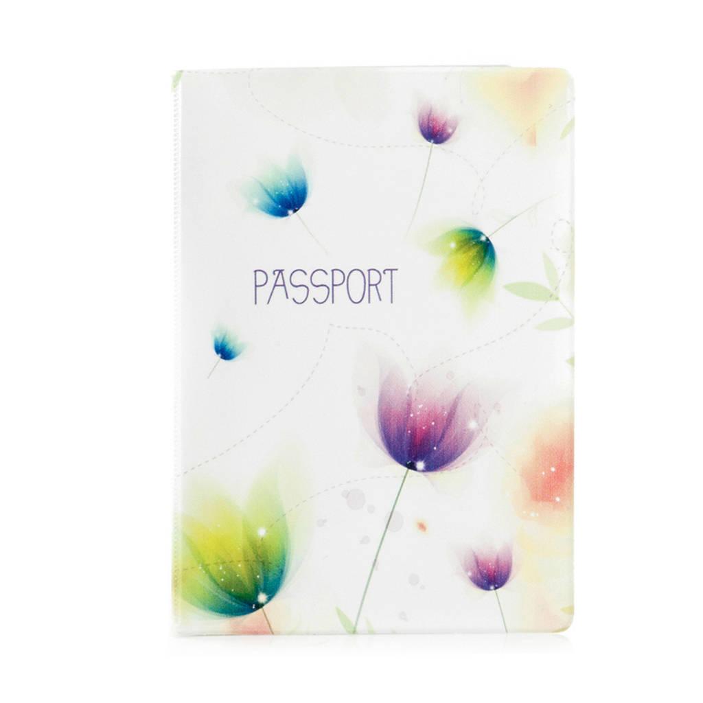 """Обложка для паспорта """"Тюльпаны"""""""