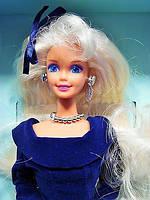 Кукла Барби коллекционная Зимний Бархат 1995 (Barbie Special Edition Winter Velvet Doll Caucasian 1st) , фото 3