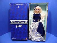 Кукла Барби коллекционная Зимний Бархат 1995 (Barbie Special Edition Winter Velvet Doll Caucasian 1st) , фото 4