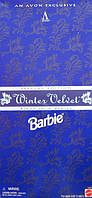 Кукла Барби коллекционная Зимний Бархат 1995 (Barbie Special Edition Winter Velvet Doll Caucasian 1st) , фото 9