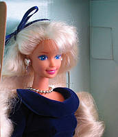Кукла Барби коллекционная Зимний Бархат 1995 (Barbie Special Edition Winter Velvet Doll Caucasian 1st) , фото 6