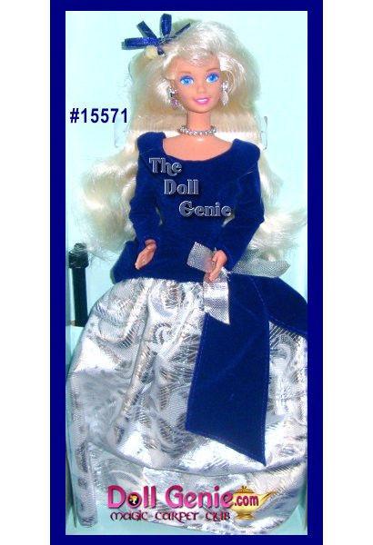 Кукла Барби коллекционная Зимний Бархат 1995 (Barbie Special Edition Winter Velvet Doll Caucasian 1st)