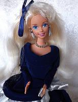 Кукла Барби коллекционная Зимний Бархат 1995 (Barbie Special Edition Winter Velvet Doll Caucasian 1st) , фото 7