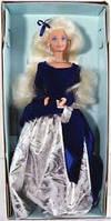 Кукла Барби коллекционная Зимний Бархат 1995 (Barbie Special Edition Winter Velvet Doll Caucasian 1st) , фото 8