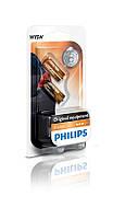 Лампа накаливания philips wy5w, 2шт/блистер (12396nab2)