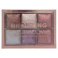 Палетка теней Technic Bronzing 6 Colour Baked Eyeshadow Palette 6x2g-Bronze