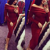 Платье женское Неби бордо, женские платья
