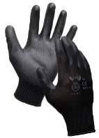 Перчатки нейлоновые с полиуритановым неполным покрытием