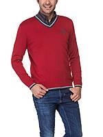 Мужской красный свитер LC Waikiki с фирменным логотипом, фото 1