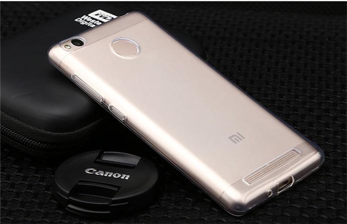 Чехол для Xiaomi Redmi 3 Pro / Redmi 3S прозрачный