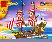 """Конструктор Brick 308 """"Пиратский корабль с пиратами"""", Конструктор Брик"""