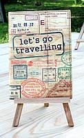 """Обложка (чехол) для паспорта """"Давай путешествовать!"""""""