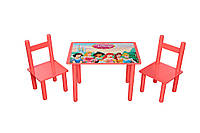 """Детский стол и два стульчика """"Принцессы"""""""