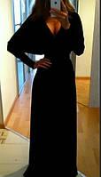 """Черное длинное платье """" Мышь """". Арт-8824/74"""